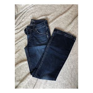 Silver Bootcut Jeans.